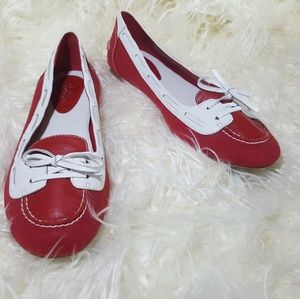 Cole Haan Nike Air red leather loafer NWOT